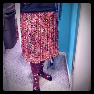 🌼KIM ROGERS midi skirt bright colored design EUC